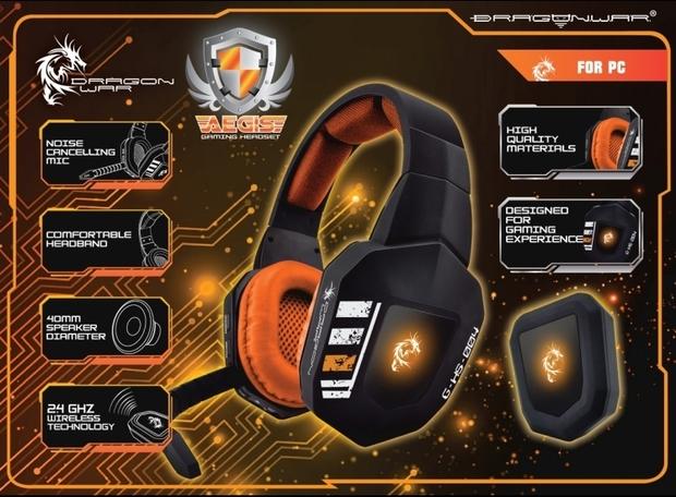 Casque Stéréo Dragonwar Aegis Wireless Gaming G Motions