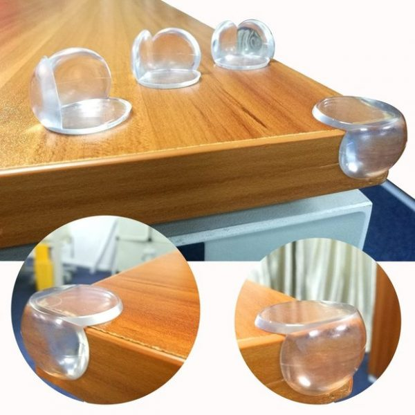 Photo de mise en situation des protections pour coins de table rond