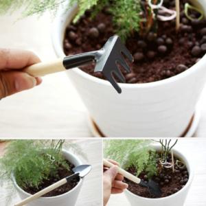 Kit Mini outils de jardin 3 pièces / Kit Jardinage Facile