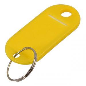 10 X porte-clés étiquette rigide Couleur aléatoire