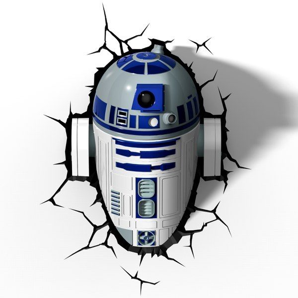 Photo veilleuse Star Wars R2D2