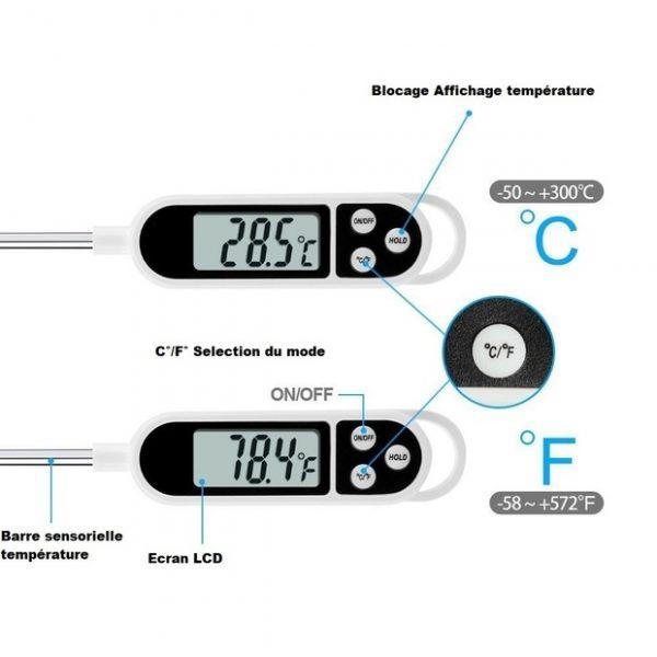 présentation du thermomètre de cuisson