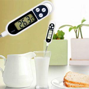Thermomètre de Cuisson Numérique en Acier Inoxydable [lecture Instantanée]