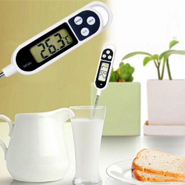 Autre mise en situation du thermomètre de cuisson