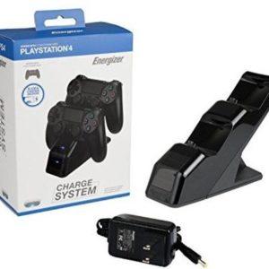 Energizer Chargeur de Manettes 2 x avec batterie rechargeable sans fil pour PS4 – noir