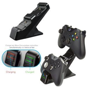 Energizer Chargeur de manettes 2 x avec batterie rechargeable sans fil pour Xbox One – noir
