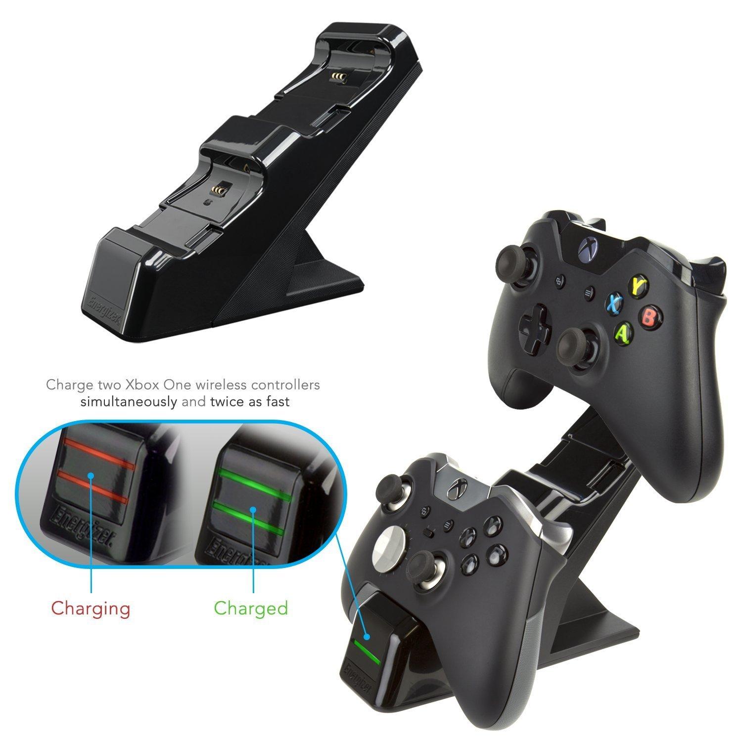 Energizer Chargeur de manettes 2 x avec batterie rechargeable sans fil pour Xbox One noir
