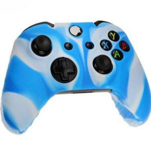 Housse Manette PS4 ou Xbox One Bleue/Blanc