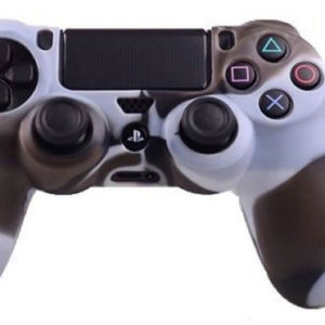 Housse Manette PS4 ou Xbox One Blanc/Marron