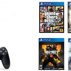PS4 PRO 1 TO + 4 Jeux + Casque Micro Konix