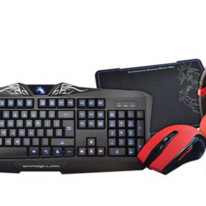 Pack 4 en 1 Dragon War : Clavier/Souris/Casque/Tapis