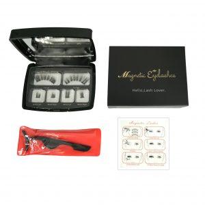 Faux Cils Magnétiques/Idéal maquillage rapide/Sans colle – Premium Précision + miroir + Applicateur