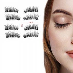 Faux Cils Magnétiques/Idéal maquillage rapide/Sans colle – Premium Tendance – 2 Paire + miroir + applicateur