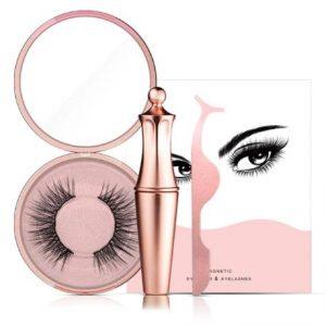 Kit Eyeliner Magnétique + 2 X Faux cils magnétique 5 aimants sans colle et réutilisable by G-MOTIONS – Diamand