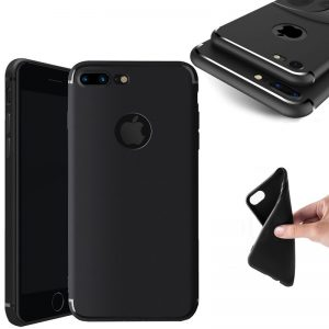 Coque silicone souple iPhone 6 et 7 – Noir ou transparent