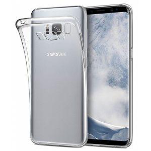 Coque silicone souple Samsung S8, S9 et S10  – Noir ou transparent