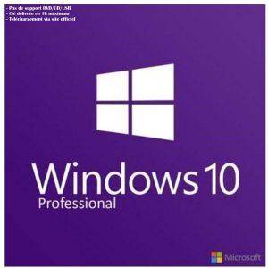 Windows 10 Pro OEM ou Retail – Téléchargement – Livraison sous 60 minutes maximum
