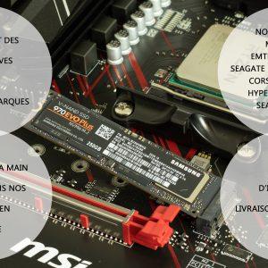 G-MOTIONS PC Gamer CERBERE • Intel i3 10100F 4 X 4.3 Ghz • GeForce 1030 • 8Go DDR4 • 120Go SSD • 1To • Win10 Pro • WiFi • USB3.0 Unité Centrale Ordinateur de Bureau PC Gaming