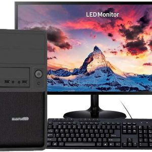 """G-MOTIONS – PC / Ordinateur de bureau /  Celeron G5905 2X 3,5GHZ  / 120 SSD / 1 TO / 4Go RAM / Ecran 22 """" / clavier souris"""