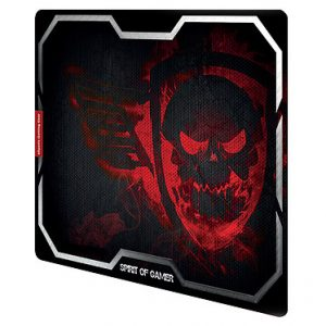 Tapis de souris Spirit of Gamer – Smokey Skull Rouge